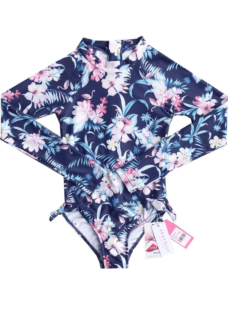 Seafolly UV sunsuit - tropical blue