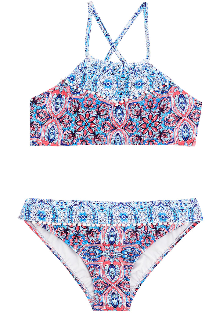 Seafolly girls bikini - ruched rose