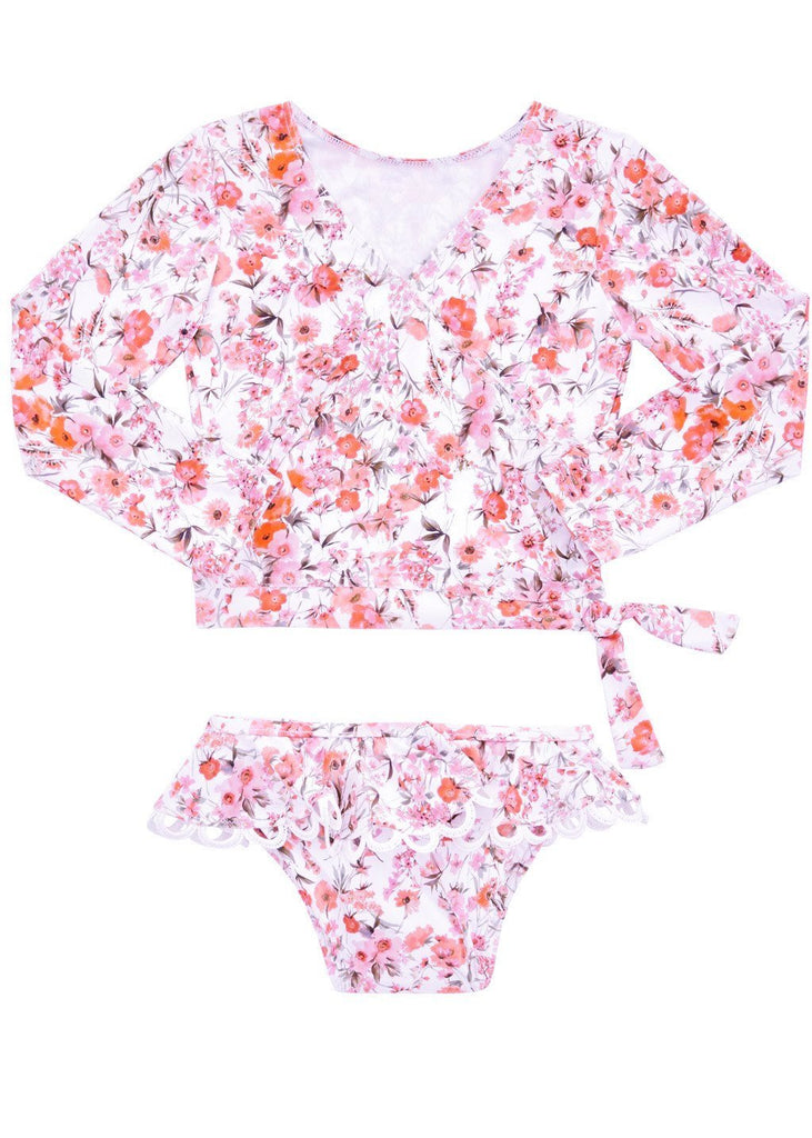 Seafolly UV 2 piece suits - poppy peach