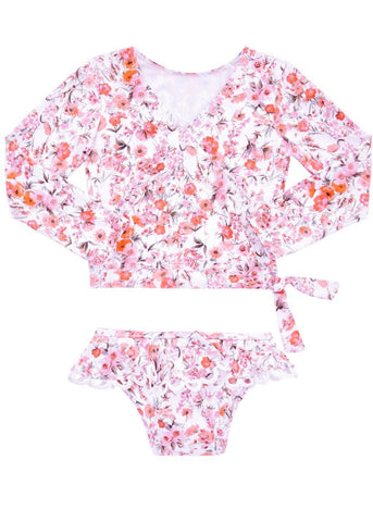 Sposh 2 piece hotpants sets - strawberry