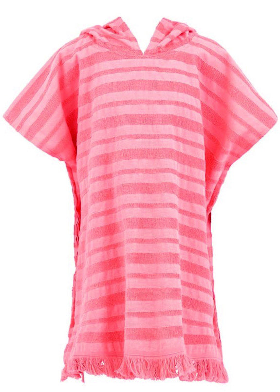 Seafolly girls kaftan - rose pink stripe