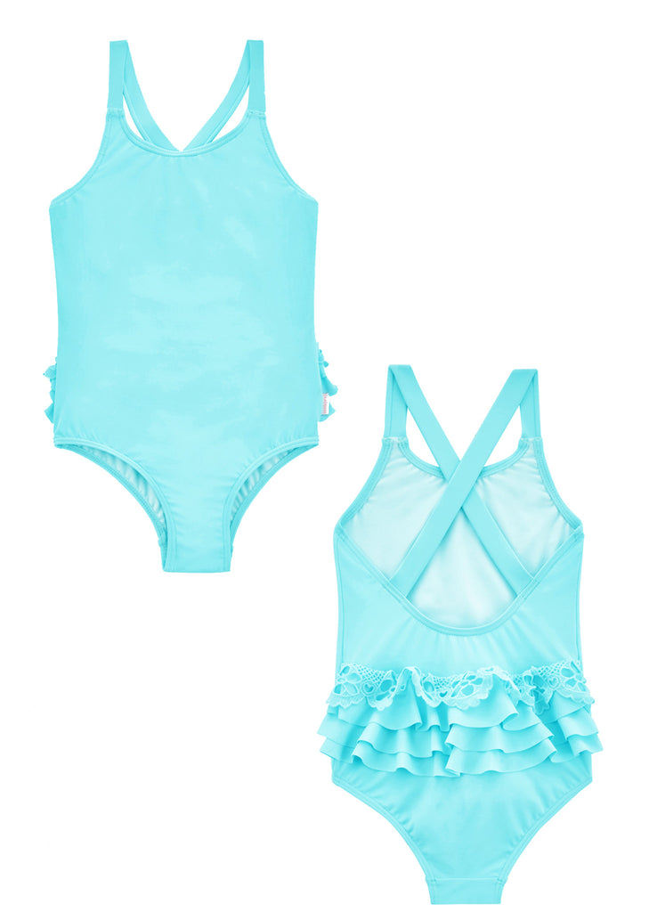 Seafolly girls swimsuits - sky blue