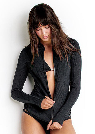 Seafolly womens sunvest - black active hybrid