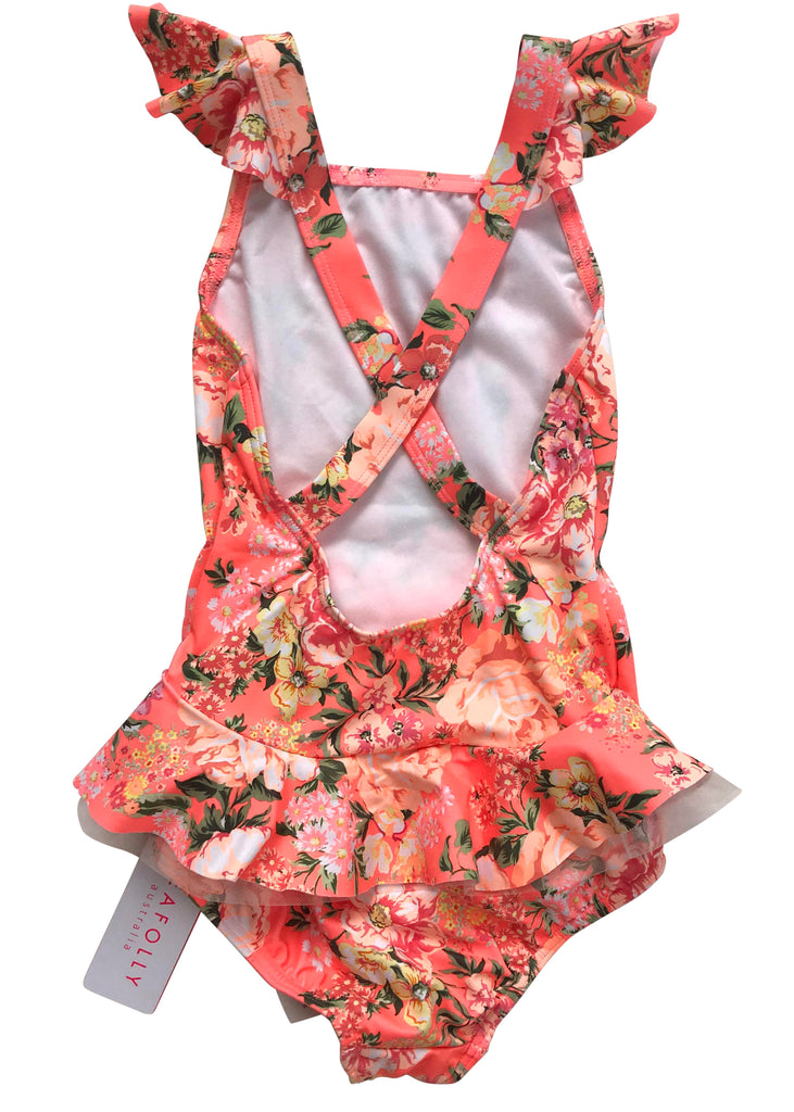 Seafolly girls swimsuit - blossom pink