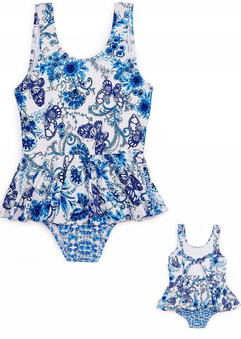 Seafolly girls swimsuits - china blue