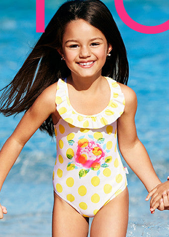 Seafolly girls swimsuits - pink rose