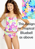 Seafolly girls tankinis - tropica bluebell