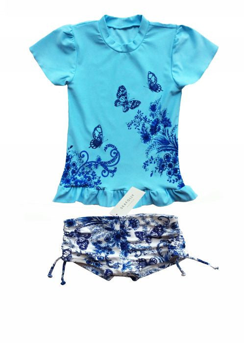 Seafolly UV suit sets - china blue