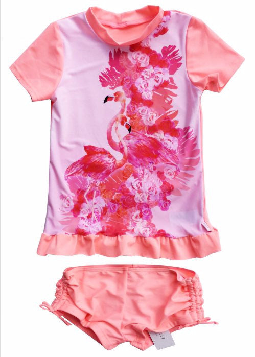 Seafolly UV suit sets - flamingo pink