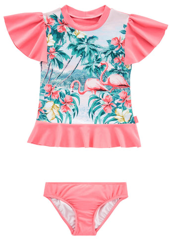 Seafolly UV two piece suit - candy stripe
