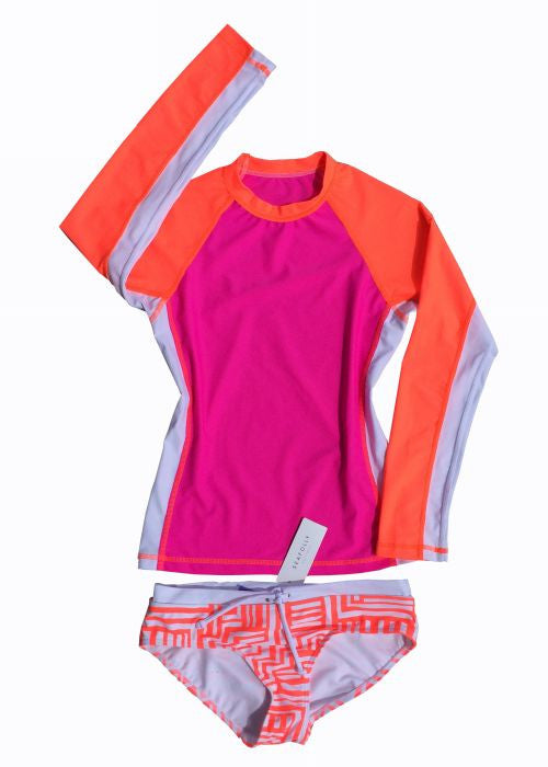 Seafolly UV suit sets - orange crush