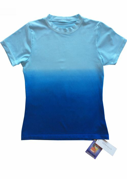 Seafolly UV rash tops - blue craze
