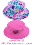 Seafolly UV hats - pink garden
