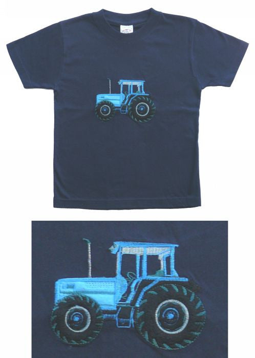 Seesaw T-shirts - navy tractor