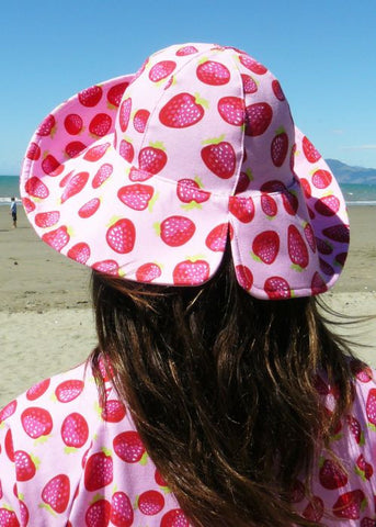 Mitty James sun hats - red gingham