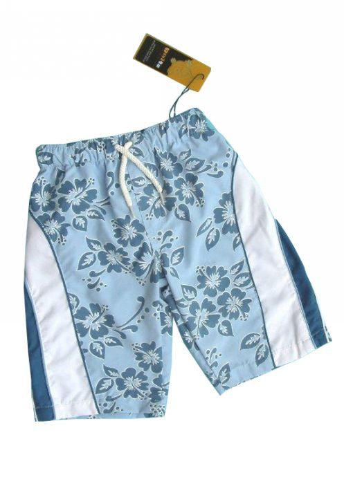 Sting boys boardies - blue hibiscus