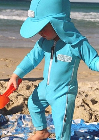 O'Neill baby UV suits - deepsea/sky