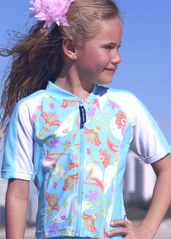 O'Neill toddler rash tops - orchid