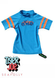 Tiger Joe UV rash tops - bluebottle