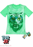 Tiger Joe UV rash tops - green