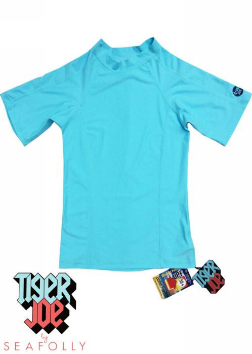 Tiger Joe UV rash tops - ice blue