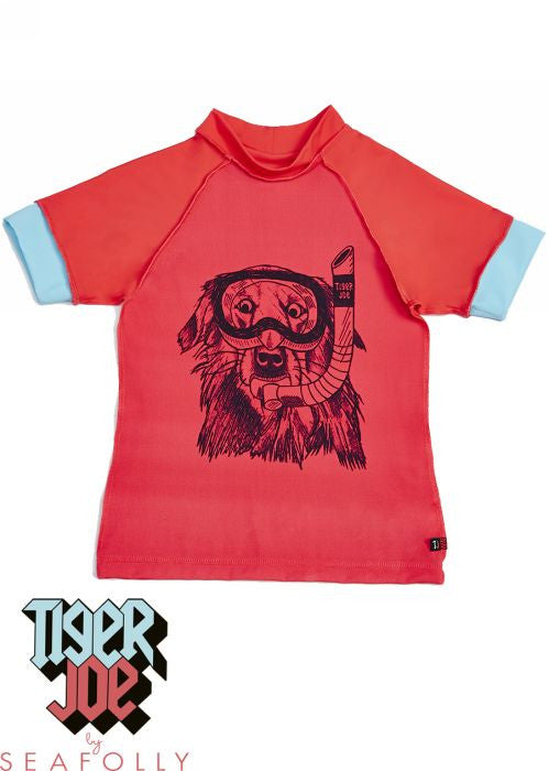 Tiger Joe UV rash tops - scuba red