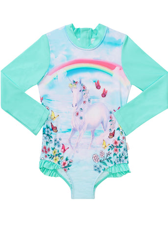 Sun Emporium baby sunsuits - aquamarine