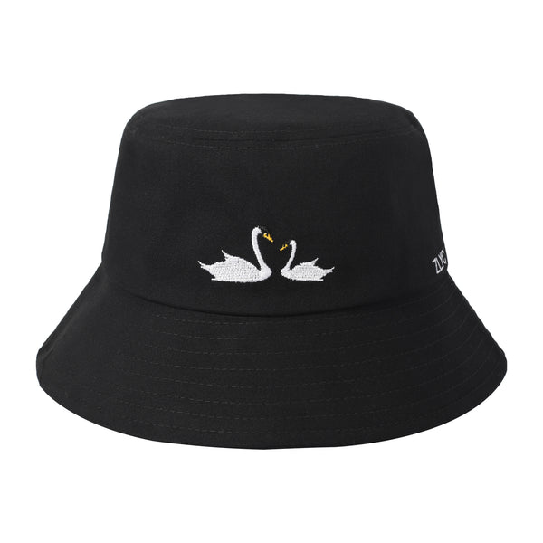 Embroidered Swan Bucket Hat