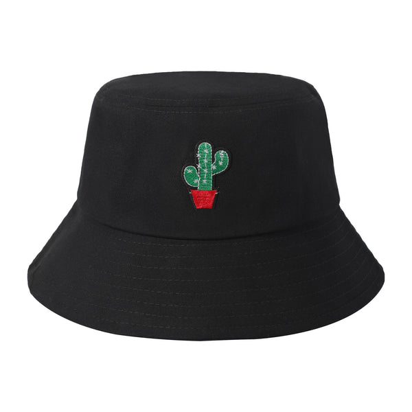 Embroidered  Cactus Bucket Hat