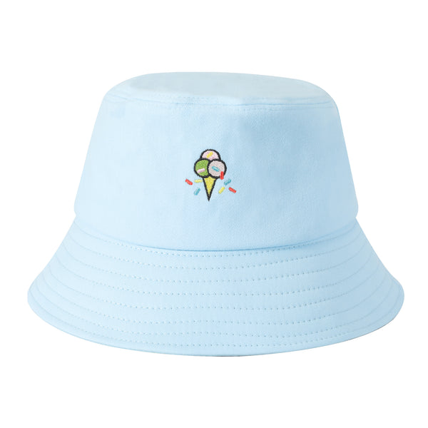 Embroidered Ice-cream Bucket Hat