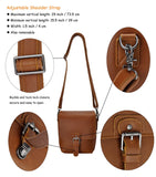 Handmade Small DSLR Camera Bag Removable Padded Brown Leather DSLR Camera Bag