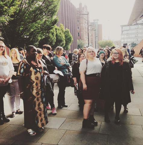 Just some of the fabulous ladies waiting outside The Curve Fashion Festival last year!