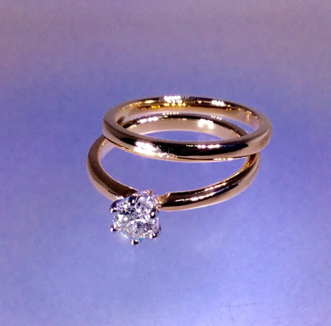 Gold Diamond Recycled Rings