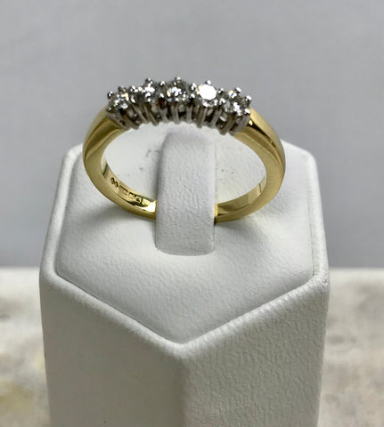 5 Round Diamond Set Ring
