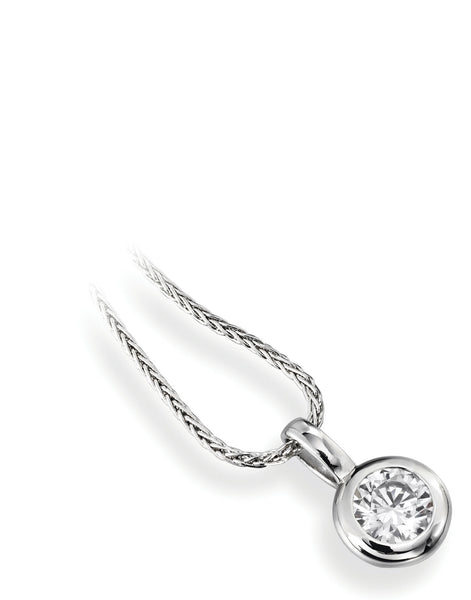 Diamond Enclosed Set Pendant - Della Kaur Cambridge