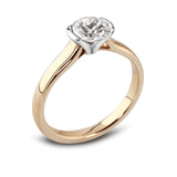 Diamond Half Set Engagement Ring - Della Kaur Cambridge - 1