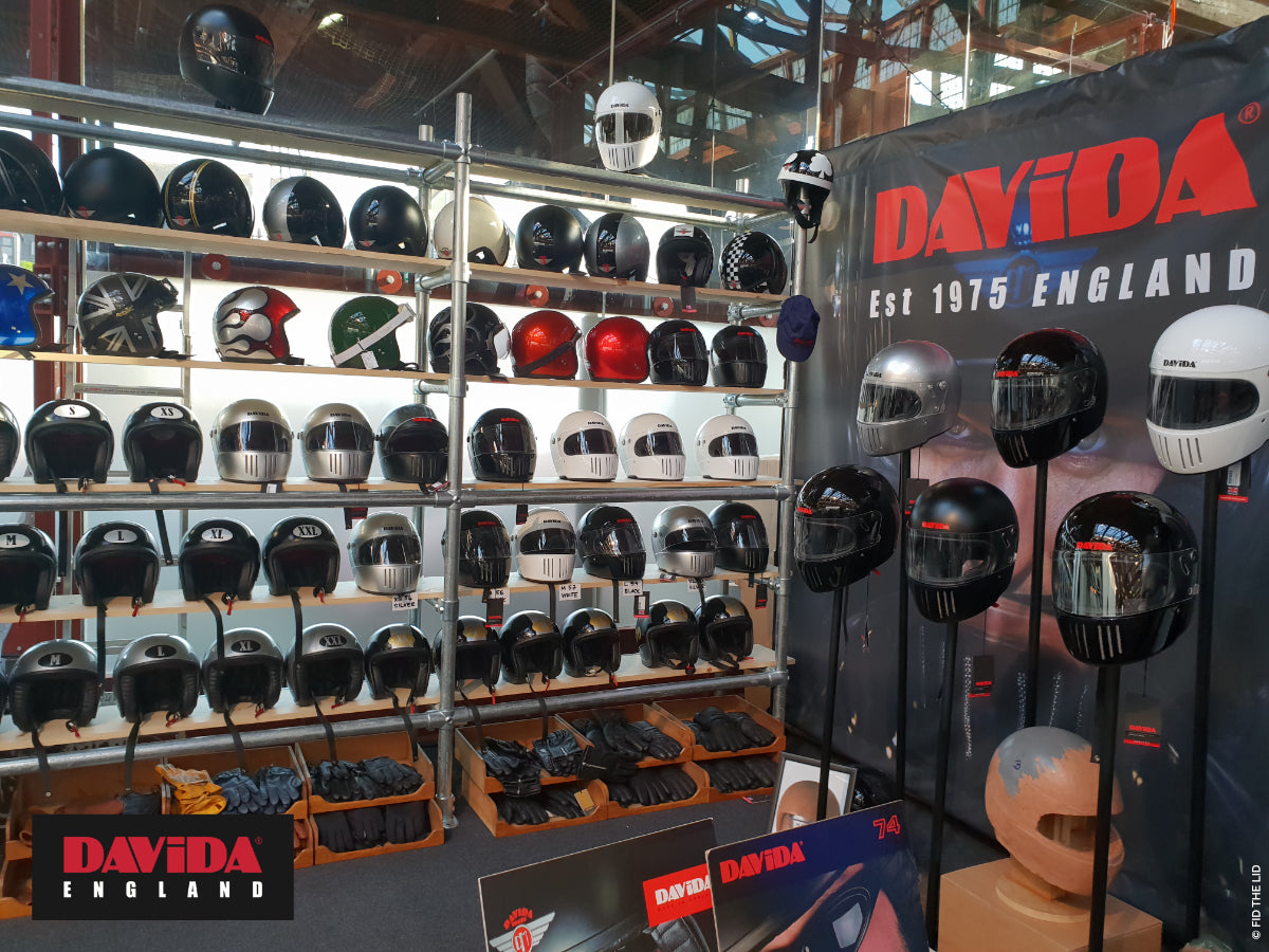 The Davida stand at the Bike Shed in 2018