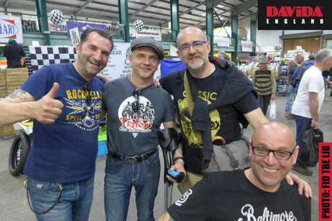 The French Crew at the Stafford Classic Bike Show in 2018