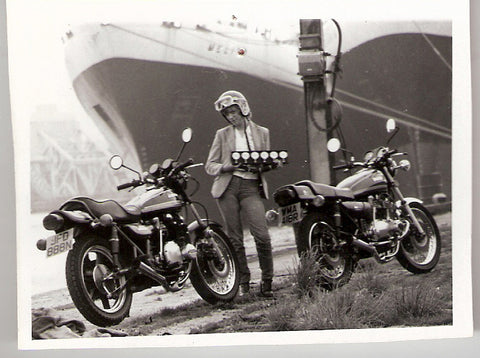 1970u0027s, Wendy Wimpole At Liverpool Docks With Davida Vacumn Gauges Just  Prior To Leaving For A Trip With Fiddy To Le Mans 24 Hour Race In France.