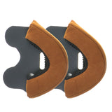 Replacement-Brown-Leather-Ear-Kit-for-Davida-Speedster-v3-Helmet-25mm