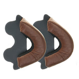 Replacement-ZNUT Brown-Leather-Ear-Kit-for-Davida-Speedster-v3-Helmet-25mm
