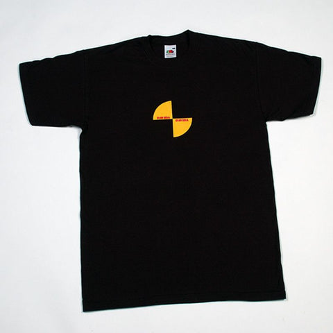 Davida T-Shirt - Black with Yellow & Black Impact Logo - Davida Motorcycle helmets - 1