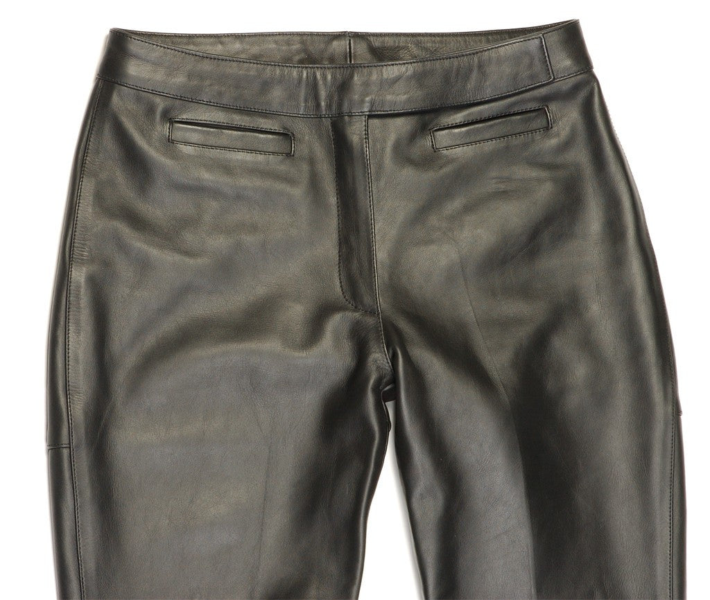 554fad761c37 Davida-Black-Leather-Motorcycle-Riding-Jeans-Trousers-Womens- ...