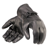 Davida Glove - Mens Black Leather Shorty