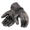 Davida Motorcycle Glove - Black Leather Shorty