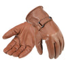 Davida Motorcycle Glove -  Brown Leather Shorty