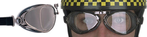 Aviator Retro Special Optical Goggle  - Black Pneumatic Rubber - Davida Motorcycle helmets - 1