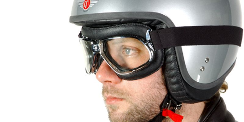 biker goggles  Nannini Biker Goggles - Black Leather \u2013 Davida (UK) Ltd