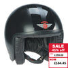 Jet Helmet -  Matt Black with Gloss Stripes