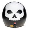 Jet Helmet - Matt Black with White Skull